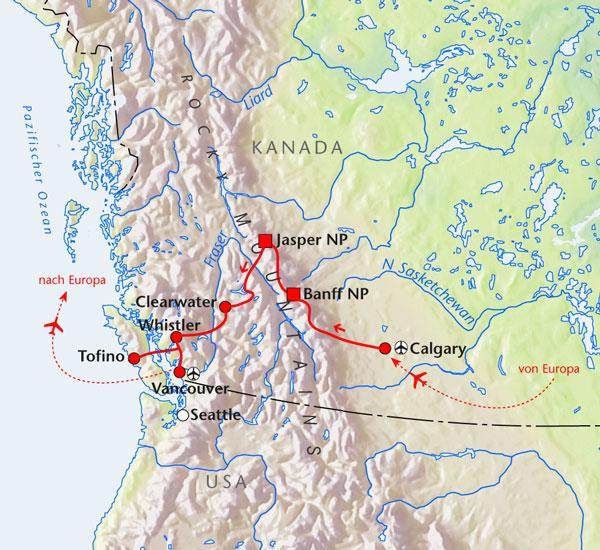 Natur- und Wanderreise im Westen Kanadas | WIGWAM Tours